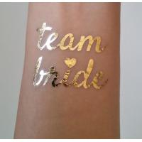Cheap Team Bride Temporary Wedding Metallic Tattoo Stickers Waterproof Removable wholesale