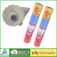 China Duck Feather Badminton Shuttlecock for training with Cork Power Base on sale