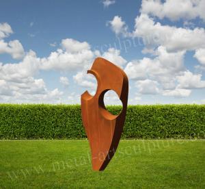 Abstract Corten Sculpture Original Color Metal Sculpture Artist Outdoor Lawn Decoration