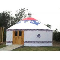 Cheap Waterproof Stay Warm Mongolian Style Camping Yurt Tent With Wooden Door wholesale