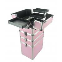 China 4 In 1 Aluminum Makeup Trolley Case in Pink  Color, Pink Pro Makeup Trolley Case on sale