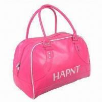 China Synthetic Leather Bowling Bag, 201D Lining, Silk-screen Print Logo on sale