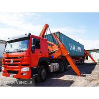 Cheap TITAN  20ft 40ft xcmg Self Loading Container Truck Trailer , xcmg side lifter trailer for sale