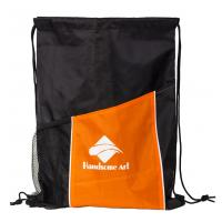 Cheap New Hot Selling Polyester Drawstring Bag with Pocket-HAD14022 for sale