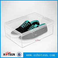 Cheap Display Racks Showcase Clear Transparent Acrylic Shoe Box for wholesale for sale