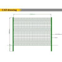 Welded wire mesh fence panels with certificate of steel
