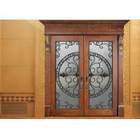 Cheap Glass Lowes Wrought Iron Entry Doors And Glass Agon Filled 22*64 inch Size Durable for sale