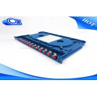 Cheap 300 * 180 * 25mm Optical Fiber Patch Panel Rack Mount ODF For Indoor / Outdoor for sale