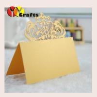 China Gold royal crown Wedding Table Place Cards , Name Tags For Wedding Tables on sale