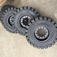 China 7.00-12 Anair forklift solid tire Steel ring China High Quality 10.00-20 Forklift Solid Tyre on sale