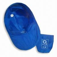 Cheap Sun Visor/Promotional Hat with Thin Nylon Fabric and Galvanized Steel Wire Rim for sale