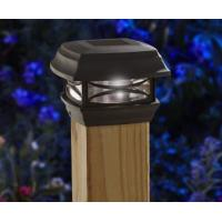 China Black Finish Solar Post Cap Lamp Weather Resistant For Outdoor Installation on sale