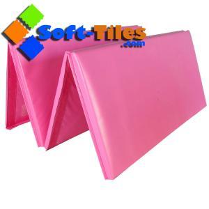 China 4'x8'x2 Gymnastics Gym Folding Exercise Aerobics Mats Blue Stretching Yoga Mat on sale