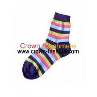 Cheap women knitting pure cashmere socks for sale