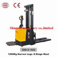 Quality 1.2T CURTIS 1230 Electric Pallet Stacker With 1270mm Wheel Base And Narrow Legs wholesale