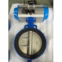 Cheap DN65 Soft Seal Centerline Butterfly Valves Wafer Type With Pneumatic Actuator for sale
