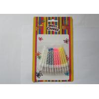 Cheap Colorful Customized Spiral Birthday Paraffin Craft Candle Party Decoration for sale