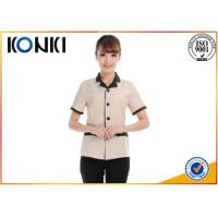 Summer Stylish Hotel Restaurant Staff Uniforms Short Sleeve With Any Size