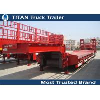 Cheap Titan 3 axle 60 tons Payload semi low bed trailers for heavy equipment transportation for sale