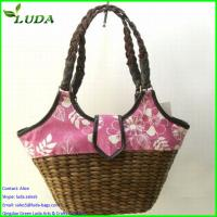 Cheap Superior quality Chinese colorful handmade Corn husk bags for sale
