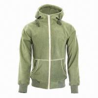Cheap Men's and Lady's Fleece Black/Army Green Lifestyle Hoody Jacket/Coat for sale