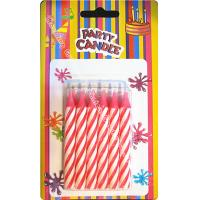 Cheap Dia 0.77cm Spiral Stick Birthday Candles 12 Pcs 25 Grams Chunky Pink Likable Wax for sale