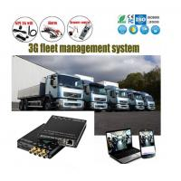 Cheap 4Ch SD Card HD 1080P vehicle DVR H.264 Car Alarm Monitoring System Solution for sale