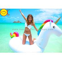 Cheap Summer Swimming Inflatable Water Park Games 108 Inch Rideable Unicorn Pool Float for sale
