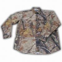 Cheap Hunting Shirt with Realtree Camo and Cotton Fabric Shell for sale