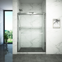 Buy cheap Double Sliding Aluminum Alloy Frame Toughened Glass Shower Door from wholesalers