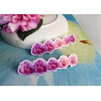 Cheap Simple Design Girls Butterfly Hair Clips Jewelry Pink / Purple Color wholesale