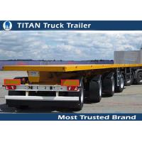 Cheap 4 Axles 60 tons 40ft Flatbed Semi Trailer with mechanical steel spring suspension for sale