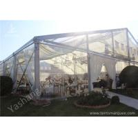 Cheap Clear Top / Wall PVC Fabric Cover Outdoor Luxury Wedding Tents With White Linings wholesale