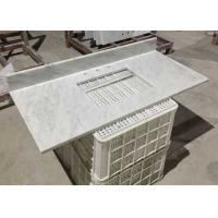 Cheap White Marble Stone Countertops , Bianco Carrera Marble Countertop Wear Resistance for sale