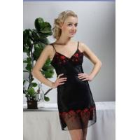 Buy cheap 1070 Hot Sexy Cheap Balck Satin Nighties for Women from wholesalers