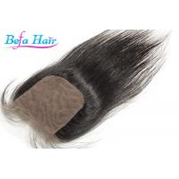 Cheap Customized Odorless Human Hair Closure 20 Inch Brazilian Straight Hair for sale