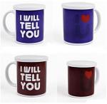 Cheap Heat Sensitive Reusable Coffee Cup Custom Magic Mug White AB Grade for sale