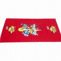 Cheap Durable Beach Towel, Comes in Various Colors and Designs for sale