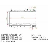 Cheap CRV 2.0L RD1 MT 19010-P3F-014 Auto Heating Cooling System In Vehicle Core Size 350*668*26 for sale