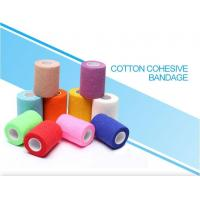 China Light weight cotton cohesive medical bandage, Medical suppliers colored cotton self adhesive cohesive elastic bandage on sale