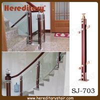 Cheap Aluminum and Wood Glass Baluster for Stairs (SJ-703) for sale