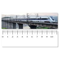 Cheap Eco - Friendly Custom Printed Plastic Rulers / 3D Printing Service With Railway Pattern for sale