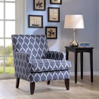 "Sany Patterned Arm Accent Chair Bedroom 29W""*30D""*32.25""H Inch"