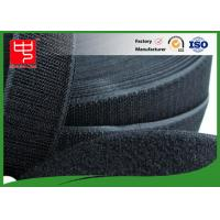 Cheap 50Mm Wide Black Hook And Loop Tape / Male And Female Hook And Loop Roll Fastening for sale