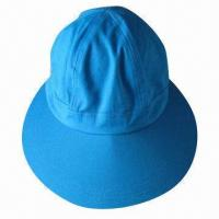 Cheap 6-panel Blank Cap, Large Visor, Made of Cotton, Suitable for Tourism and Women for sale