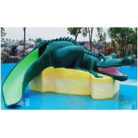 Cheap Crocodile Shape Fiberglass Durable Water Park Playground Equipment For Kids Fun for sale