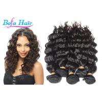 Buy cheap Long Lasting French Curl Virgin Peruvian Hair Extensions No Tangle Wavy from wholesalers