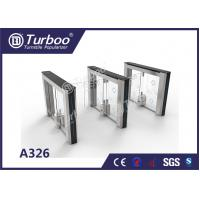 Cheap Swing Access Control Turnstile Gate Accurate Logic Judgment And Infrared Reset Function for sale