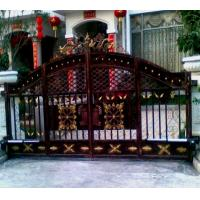 Cheap House Outdoor Wrought Iron Security Gates Hot Dip Galvanized Processing for sale
