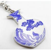 Cheap best promotional corporate gifts ideas Chinese ceramic keychains with gift box phoenix for sale